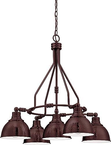 "new arrival Craftmade 35925-ABZ Timarron Metal Chandelier online sale Lighting, 5-Light, 500 outlet online sale Watts, Aged Bronze (30""W x 27""H) online sale"
