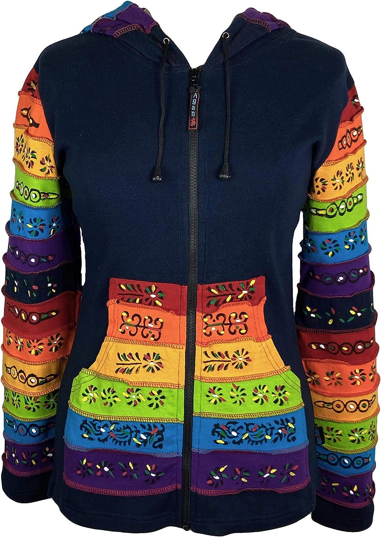 Agan Traders 35% OFF Women's Boho Hoodie Painted Rainbow Brush Max 73% OFF Sweatshir