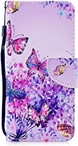 Galaxy S10   Plus Case  Bear Village  Color Pattern Flip Leather Case Shockproof Silicone Back Cover with Card Slot and Stand Function for Samsung Galaxy S10   Plus   5 Butterfly