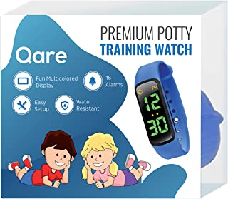 Premium Potty Training Watch - Only Watch with Multiple Alarms to Fit Your Schedule - Water Resistant - Video Manual - Kids Lock - Touchscreen - Fun Melody - New: Saved Settings - Easy Setup (Blue)