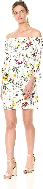 Bailey 44 Womens Botanical Off The Shoulder Dress Dress