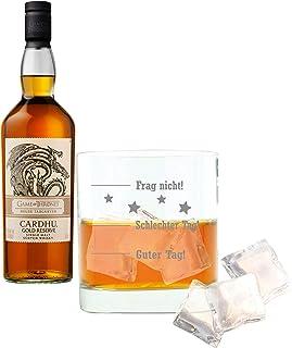 Cardhu Gold Reserve Haus Targaryen Game of Thrones Whisky, Schnaps, Alkohol, mit Whiskyglas, Single Malt, 40%, 700 ml
