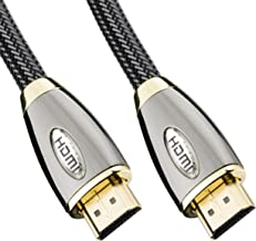 32nd HDMI To HDMI High Speed v2.0/1.4a Data Cable with Gold Plated Connectors - Supports 4K, Ultra HD, 3D, 1080p, Ethernet and Audio Return - 5 Metre