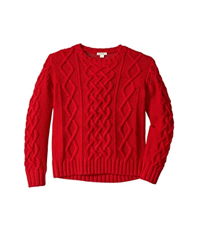 crewcuts by J.Crew Cable-Knit Sweater (Toddler/Little Kids/Big Kids) (Harvest Red) Boy