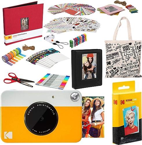 new arrival Kodak PRINTOMATIC Instant Print Camera (Yellow) online sale Deluxe discount Scrapbook Bundle outlet sale