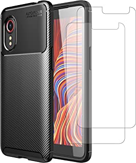 Weideworld Samsung Galaxy Xcover 5 Coque + [2 Pièces] Verre trempé, Silicone Ultra Mince Flexible Souple TPU Protection Bu...