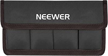 Neewer DSLR Battery Bag Holder Case for AA Battery and lp-e6 lp-e8 lp-e10 lp-e12 en-el14 en-el15 fw50 f550 and More, Suitable for Battery of Nikon D800 Canon 5DMKIII Sony A77(Coffee)