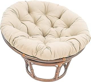 International Caravan Bali 42-inch Indoor Fabric Rattan Papasan Chair - Walnut/Natural