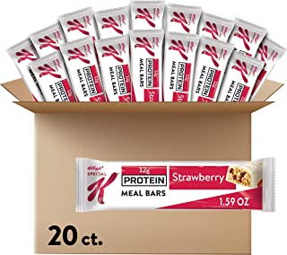 Kellogg's Special K Protein, Meal Bars, Strawberry, School and Office Snacks (20 Bars)