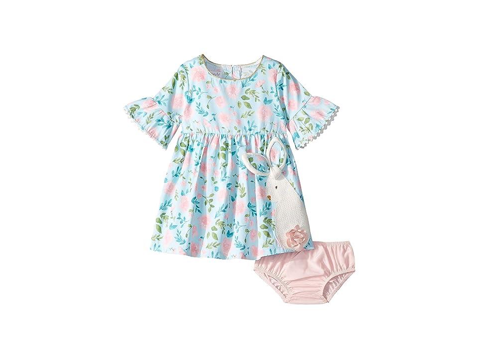 Mud Pie Bunny Dress (Infant/Toddler) (Blue) Girl