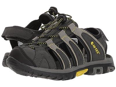 Hi-Tec Kids Cove II (Toddler/Little Kid/Big Kid) (Black/Charcoal/Super Lemon) Boys Shoes