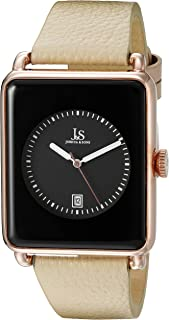 Joshua & Sons Men's Black Dial Leather Band Watch - Js95Rgtn, Analog Display, Japanese Quartz Movement