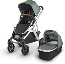 2018 UPPAbaby Vista Stroller - Emmett (Green Melange/Silver/Saddle Leather)