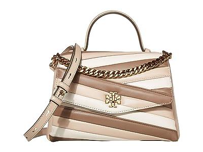 Tory Burch Kira Chevron Color Block Top-Handle Satchel (Oryx/Shellstone/Classic Taupe) Handbags