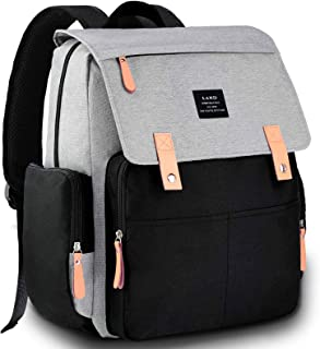 Diaper Bag Backpack, VAKKER Multifunction Diaper Bags for Baby Girl-Boy,Unisex Travel Backpack, Waterproof Backpack Baby Bags and Large Capacity,Black,Gray,White