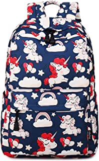 Abshoo Cute Lightweight Unicorn Backpacks Elementary Girls Bookbags (Navy)