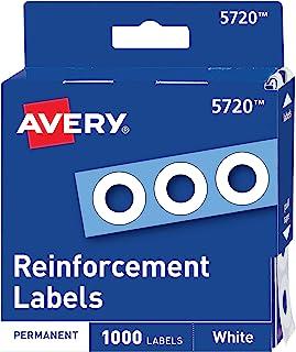 Avery Hole Reinforcation، 1/4 بوصة قطر، 1000/حزمة