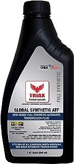 TRIAX Global Synthetic ATF - OEM Grade for BMW, Audi, Mercedes Benz, VW, Honda, Toyota, Nissan, Chrysler +4, Ford Mercon V, Allison, Chevrolet, Dexron VI (1 Quart)