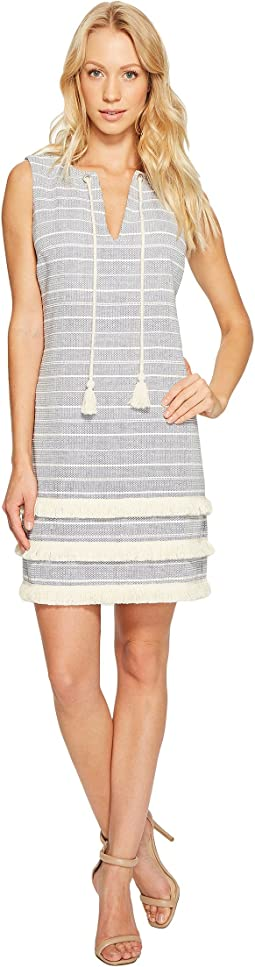 Striped Tweed Shift Dress JS7A8997