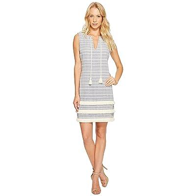 Jessica Simpson Striped Tweed Shift Dress JS7A8997 (Blue) Women