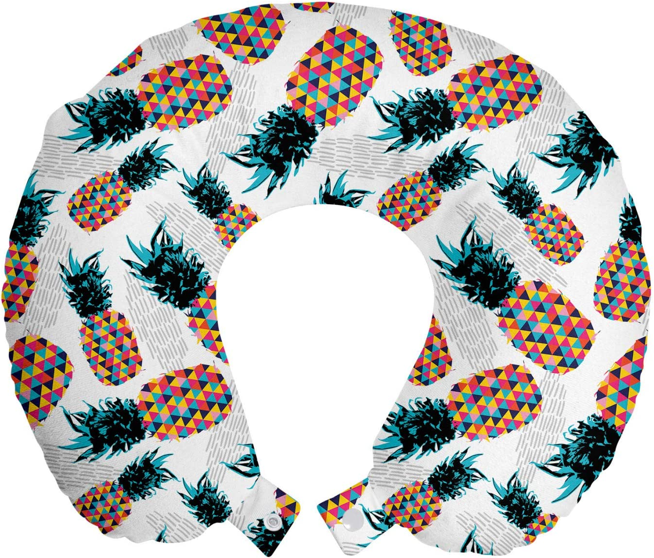 Ambesonne Contemporary Brand new Travel Free Shipping New Pillow Rest with Pineapples Neck