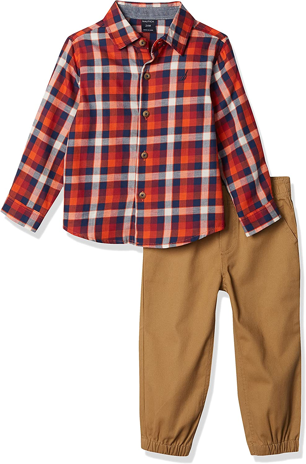 Nautica Discount is also underway Baby Boys Fort Worth Mall 2 Pieces Pants Set Shirt