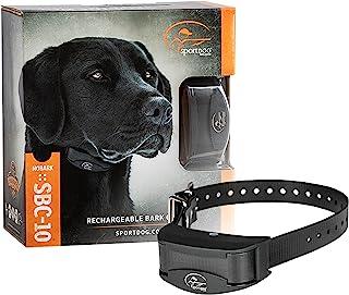 SportDOG Brand NoBark 10 Collar - Rechargeable, Programmable Bark Collar - Waterproof & Submersible, Black