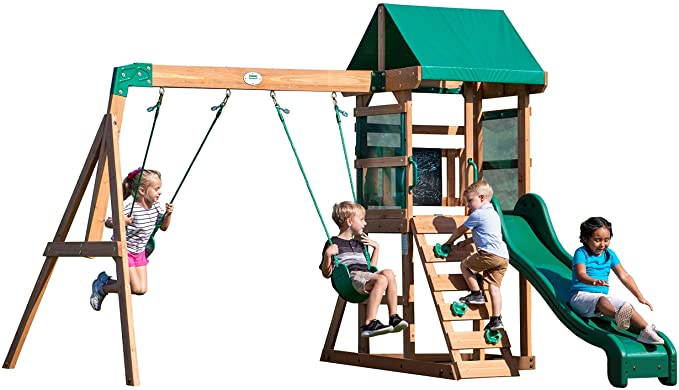 Backyard Discovery Buckley Hill Wooden Swing Set - The Best Content