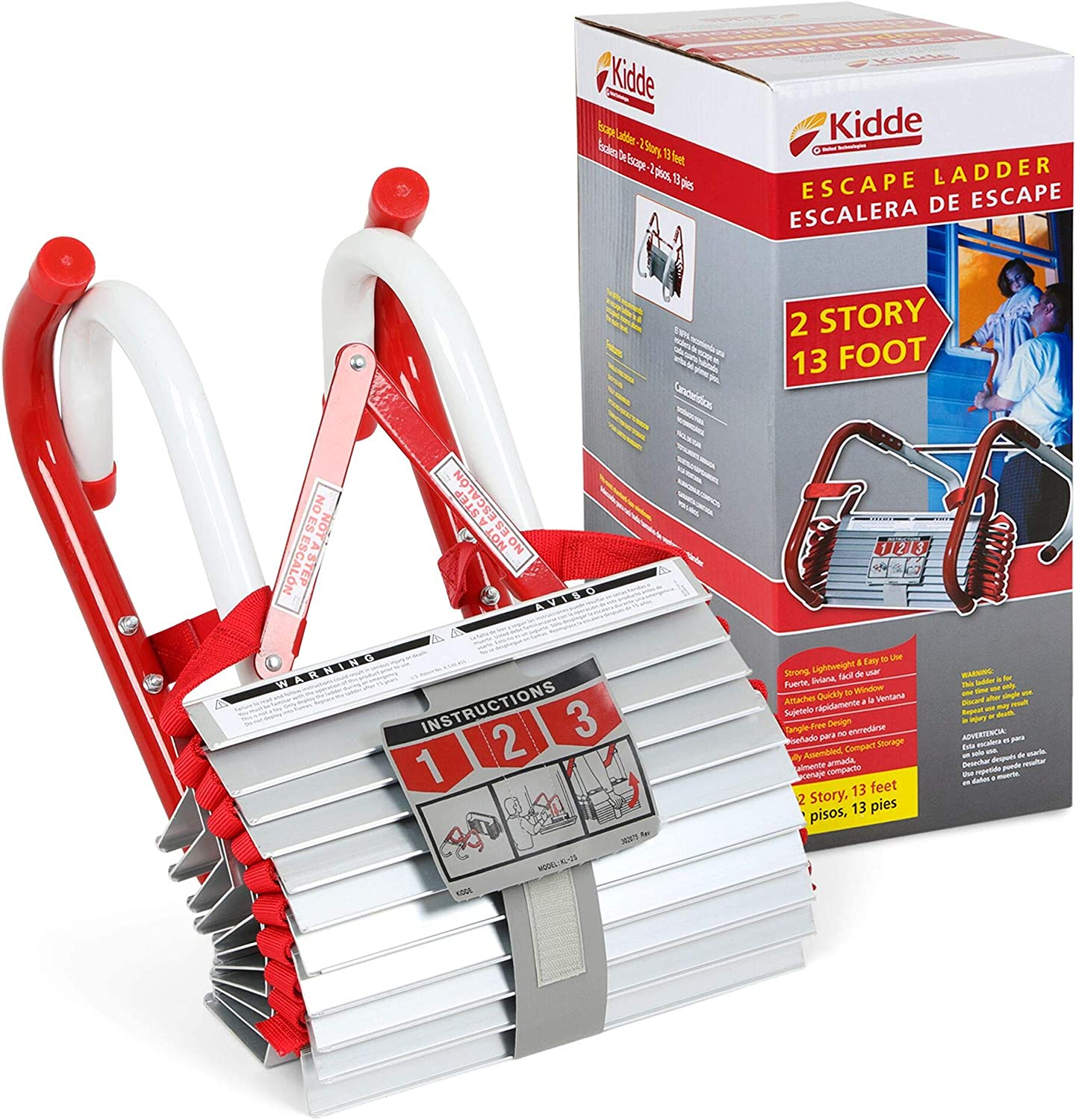 Kidde Two Story 13-Foot Fire Escape Ladder $24.18 Coupon
