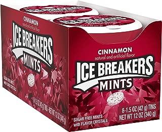 ICE BREAKERS Sugar Free Mints, Cinnamon, 1.5 Ounce (Pack of 8)