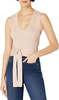 Women's Cotton Rib Wrap Top