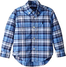Plaid Performance Poplin Shirt (Toddler)