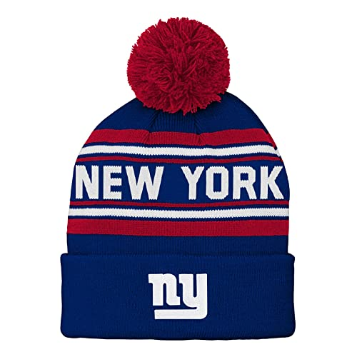 d6e1688710b NFL Boys Kids   Youth Boys Jacquard Cuffed Knit Hat with Pom