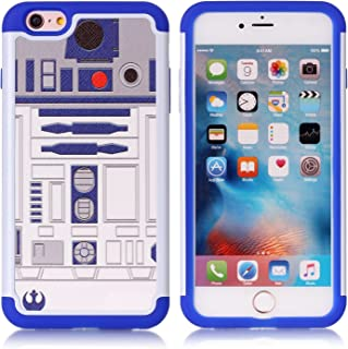 Iphone 6S Plus Case, R2D2 Astromech Droid Robot Pattern Shock-Absorption Hard PC and Inner Silicone Hybrid Dual Layer Armor Defender Protective Case Cover for Apple iphone 6S Plus / iphone 6 Plus