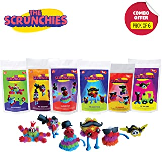 Toiing Scrunchies Return Gift Combo - Pack of 6 Monster Family Construction Sets for Kids | Fun Indoor Toy | Develops Fine...