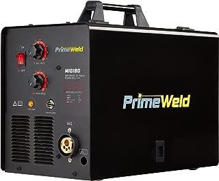 PRIMEWELD MIG180 180AMP Mig Welder with Free Spool Gun, Mask, Aluminum Welding Wires, Solid Wires, Argon Regulator, Standard MIG Gun 3 Year Warranty