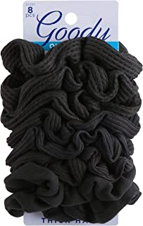 Goody Hair Ouchless Painfree Women's Hair Scrunchie, 8 count, Black