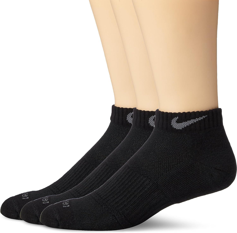Nike Dri-Fit Cushion Low Cut Ankle Socks (3 Pack) Black SX4829-001 Size Large (8-12)