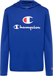 Champion Boys Tech Long Sleeve Top Active Hooded Tee Shirt for Kids Clothes