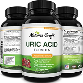 Uric Acid Kidney Support Vitamins for Men and Women – Herbal Cleanse Detox for Joint Comfort Muscle Recovery Pure Tart Che...