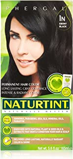 Naturtint Permanent Hair Color 1N Ebony Black (Pack of 1), Ammonia Free, Vegan, Cruelty Free, up to 100% Gray Coverage, Lo...