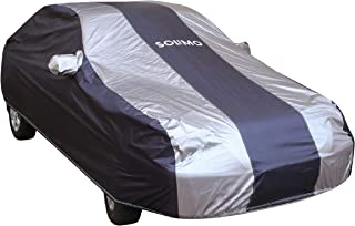 Amazon Brand - Solimo Hyundai Xcent Water Resistant Car Cover (Dark Blue & Silver)