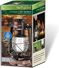 NorthPoint 190462 12 LED Vintage Style Outdoor Lighting Lantern for Multi Purpose Use, Copper