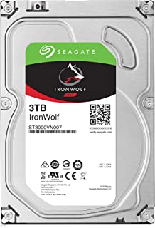 "Seagate IronWolf 3.5"" データ復旧3年付 3TB 内蔵HDD(CMR) 3年保証 6Gb/s 64MB 5900rpm 24時間稼動 PC NAS向け ST3000VN007/FFP"