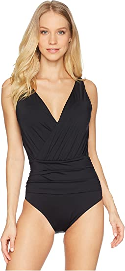 Solid Draped One-Piece