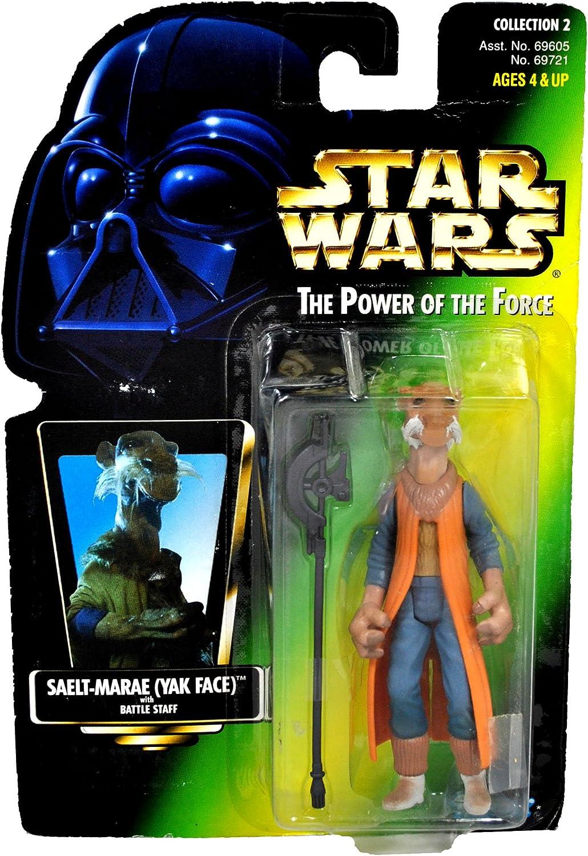 Star Wars POTF2 Saelt-Marae (Yak Face) Green Carded Hologram variant