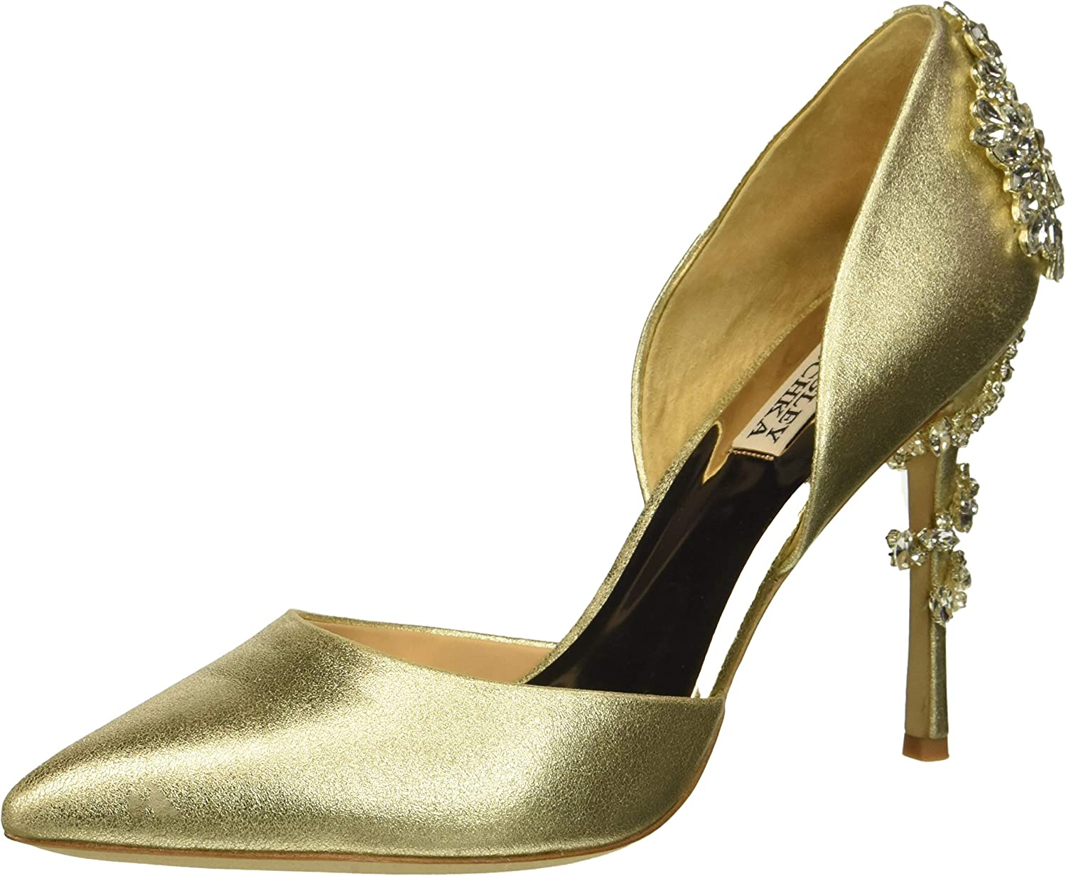Badgley Mischka Damen Damen Vogue Ii, Platino Metallic Suede, 38.5 EU  beste Qualität