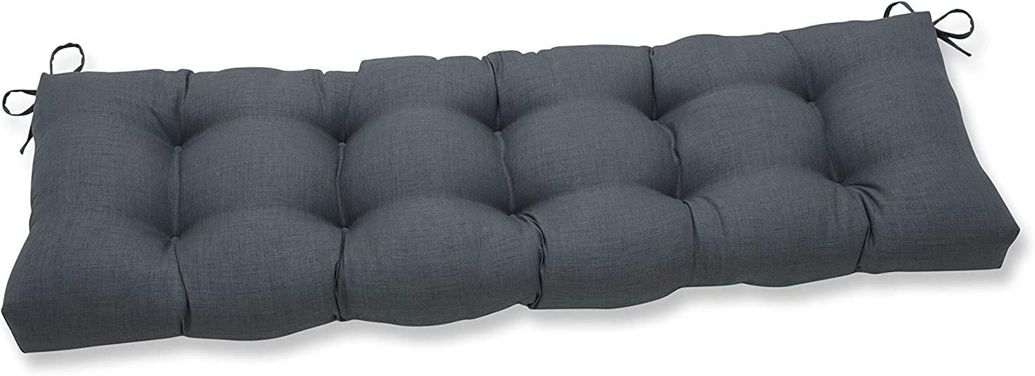 Pillow Perfect Outdoor/Indoor Rave Graphite Tufted Bench/Swing Cushion, 60