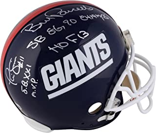 Phil Simms, Lawrence Taylor, Bill Parcells New York Giants Autographed Throwback Proline Helmet with Multiple Inscriptions - Fanatics Authentic Certified