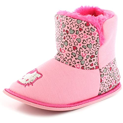 c0fbd2096 Hello Kitty New Girls/Childrens Pink Dragon Slip On Bootee Slippers. - Pink  -
